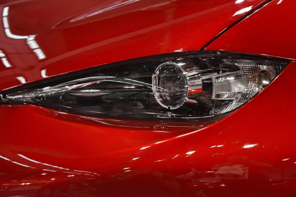 headlight, modern, red, sports car, speed, transportation, automobile, vehicle