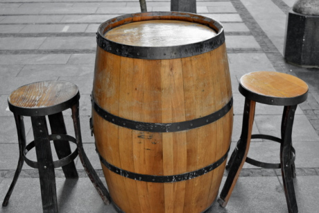 furniture, handmade, barrel, container, wood, wooden, old, oak