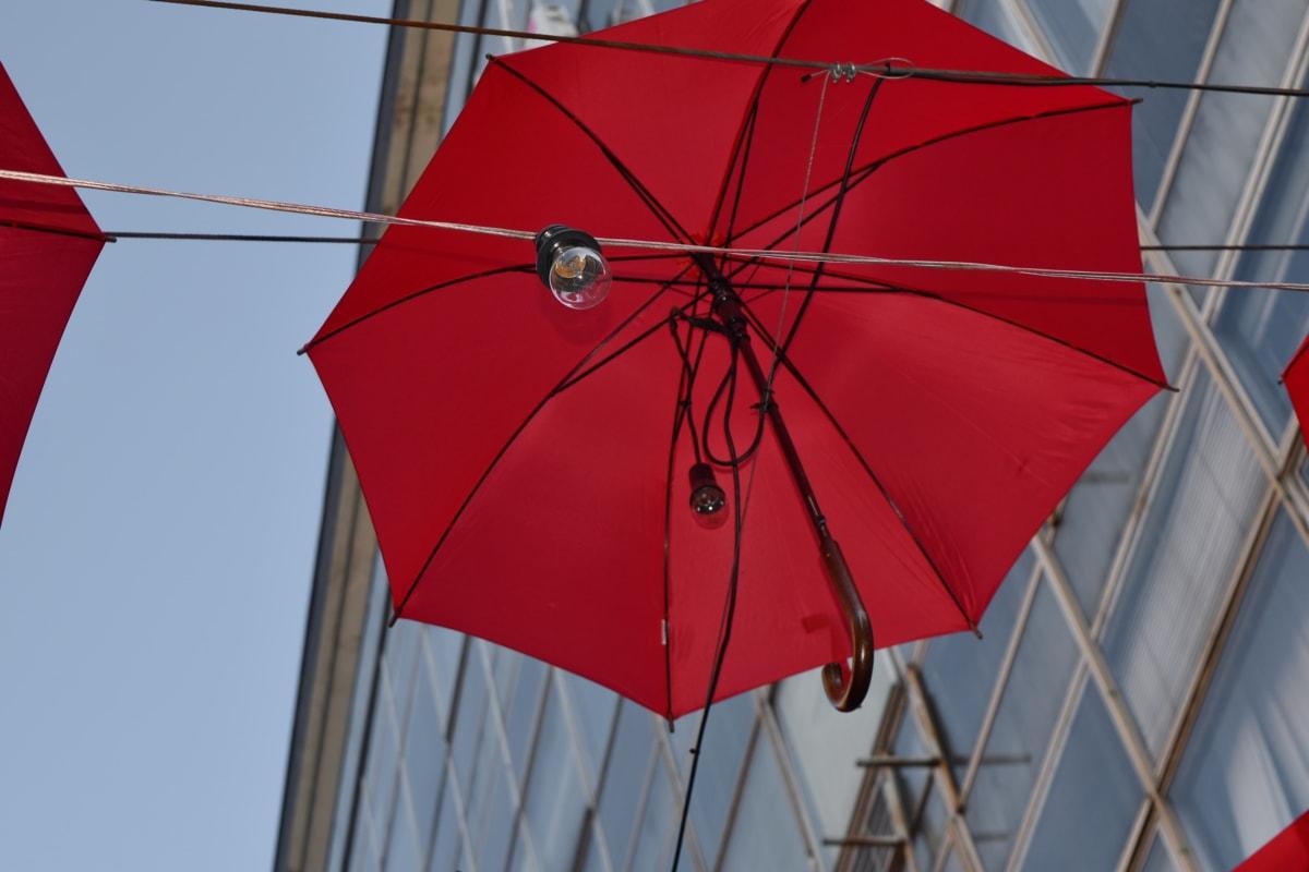 decoration, electricity, light bulb, street, umbrella, rain, wind, protection