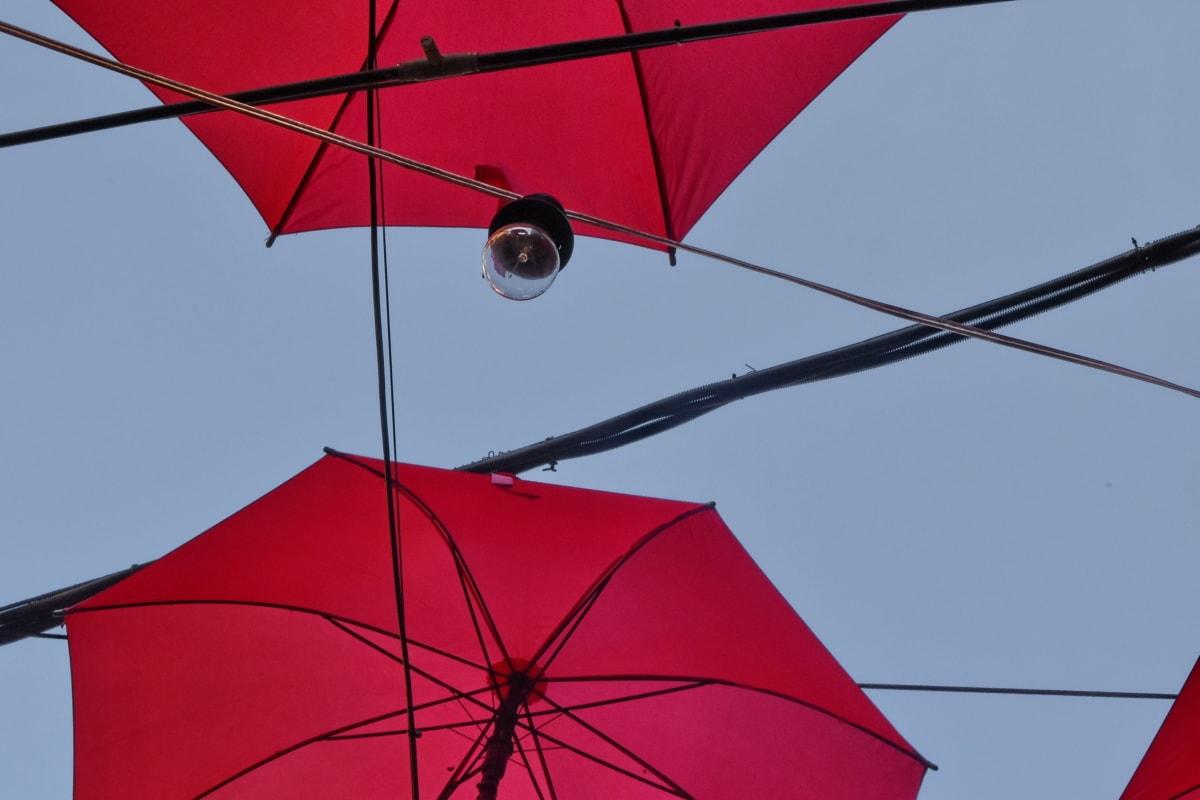 decoratie, gloeilamp, paraplu, parasol, wind, buitenshuis, nylon, Festival