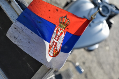 emblem, flag, heraldry, motorcycle, Serbia, street, competition, vehicle