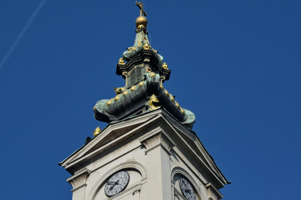 church tower, tower, religion, covering, architecture, church, building, old