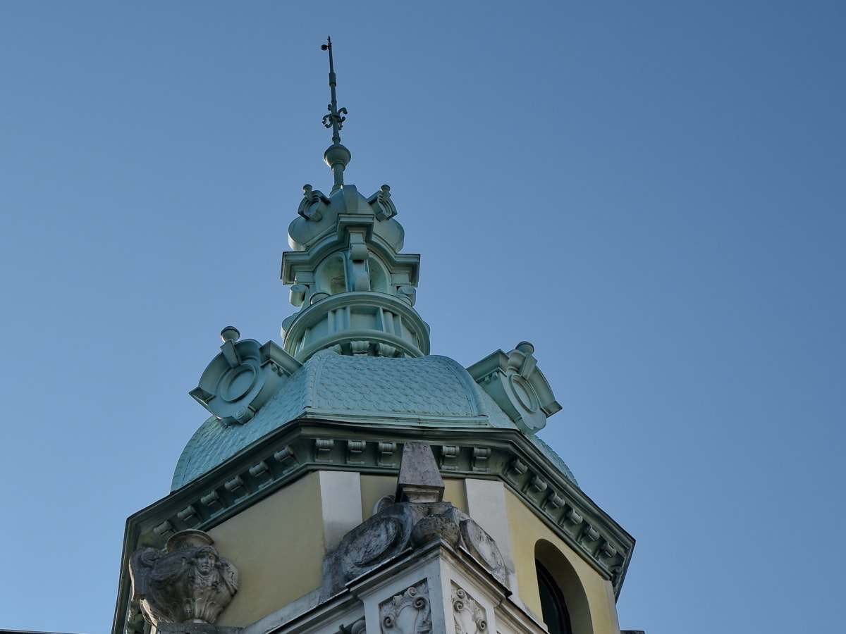 baroque, capital city, facade, handmade, building, tower, dome, architecture