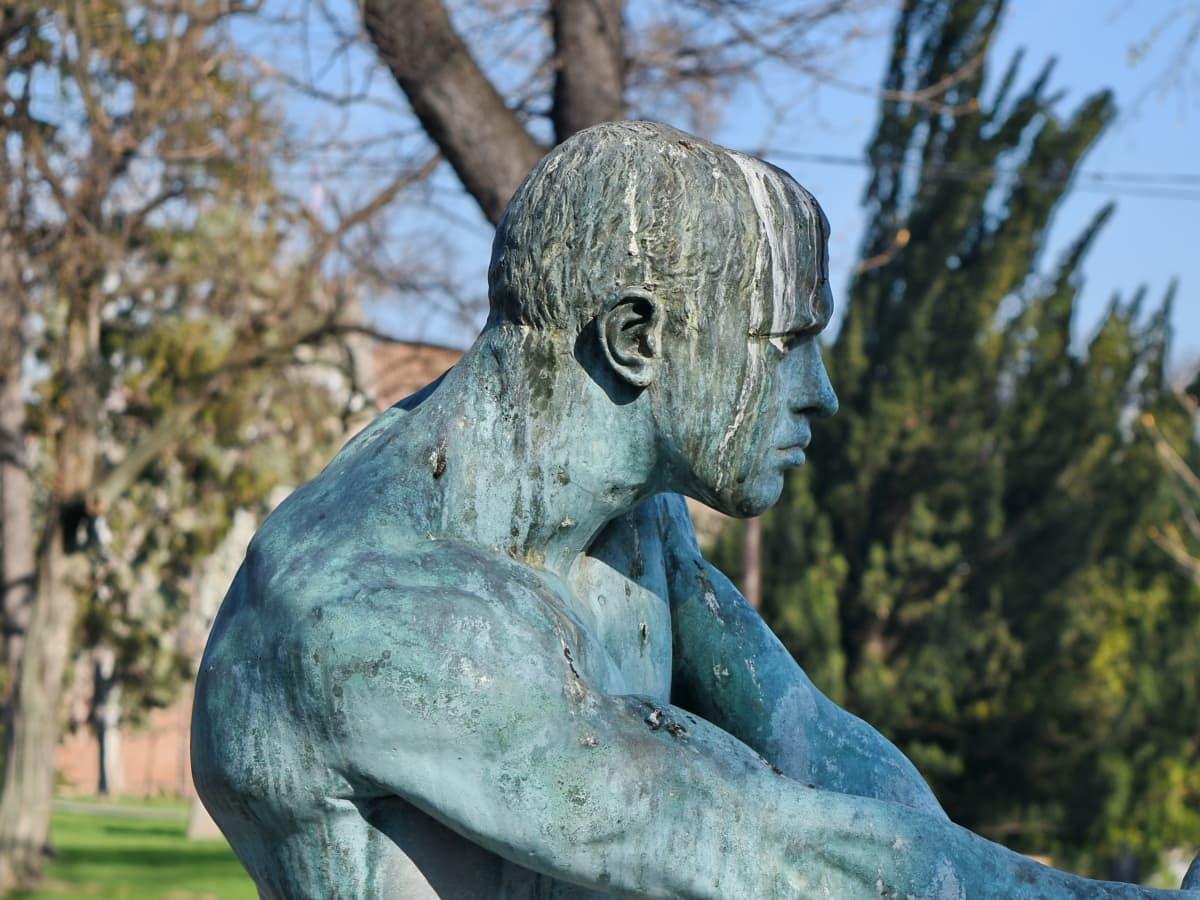 bronze, famous, sculpture, statue, monument, art, outdoors, park