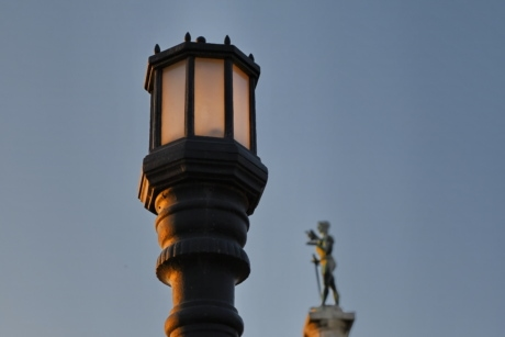 capital city, dusk, lamp, architecture, outdoors, city, building, light