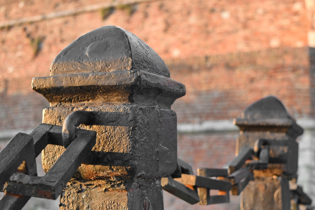 cast iron, fence, fence line, handmade, medieval, architecture, old, building