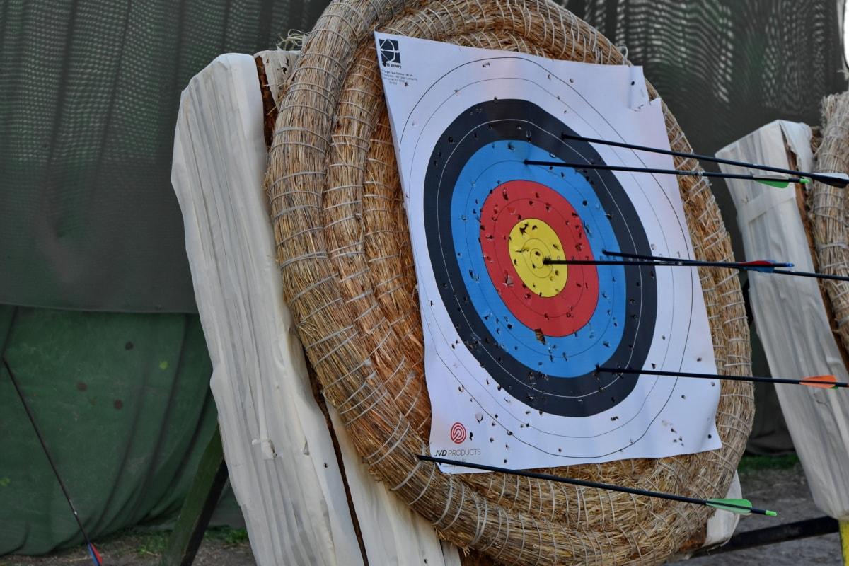 Lukostřelba, šipka, střed, kruh, praxe, Sportovní, cíl, staré