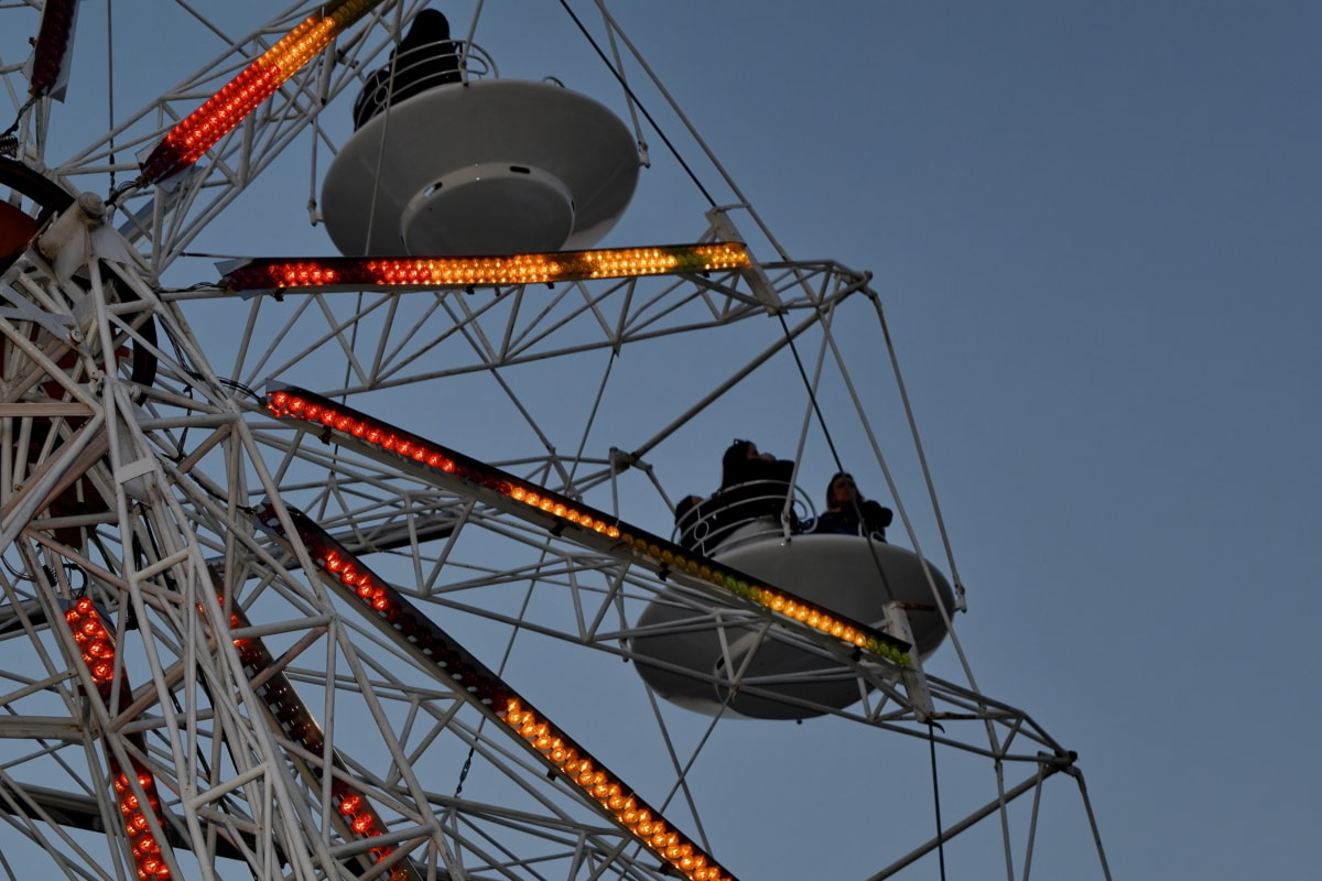 diversões, carrossel, entretenimento, alta, mecanismo, passeio, Parque, indústria