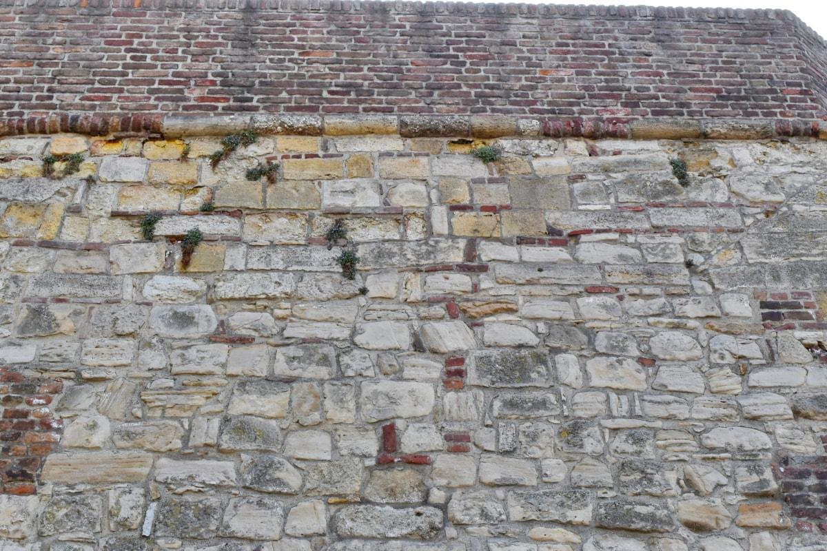 superfície, áspero, tijolo, arquitetura, textura, pedra, parede, velho