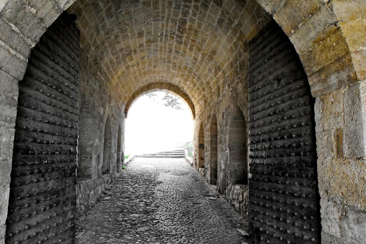 戸口, 要塞, ゲートウェイ, 中世, トンネル, 古代, 古い, アーキテクチャ