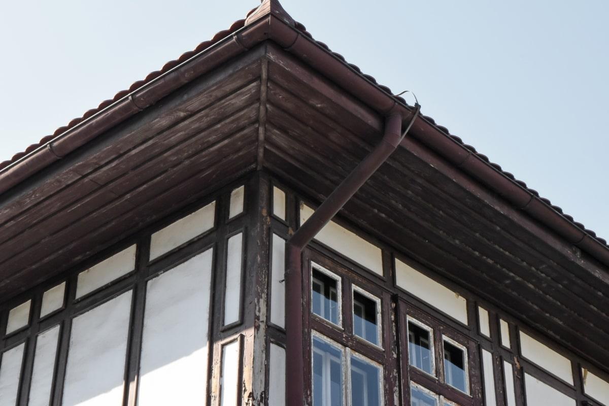 arkitektur, bygning, Tag, vindue, dagslys, hus, udendørs, byggeri
