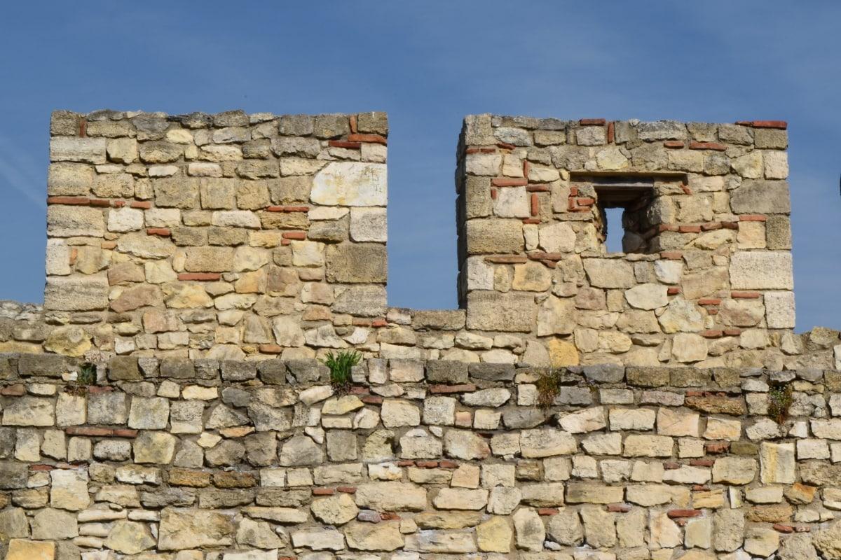 bề mặt, xây dựng, thô, bức tường, gạch, kiến trúc, đá, cũ