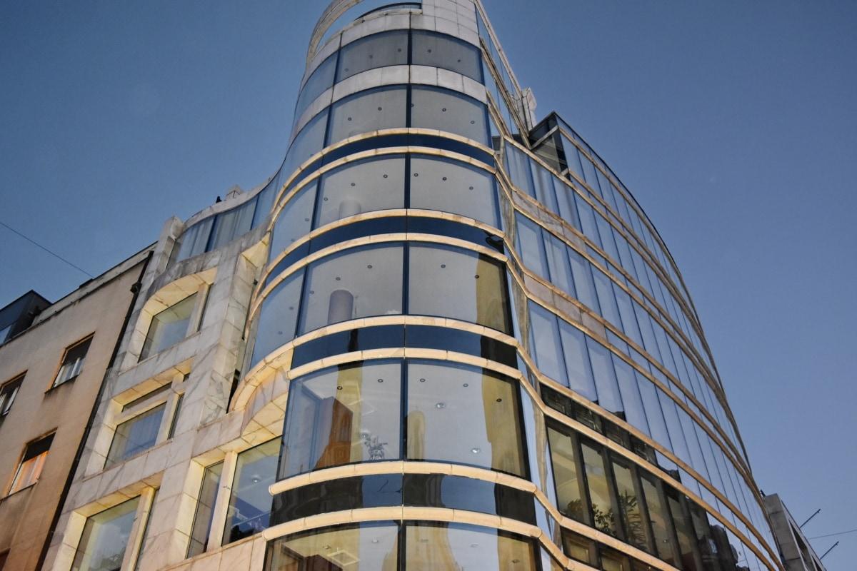 arranha-céu, Torre, escritório, arquitetura, cidade, edifício, negócios, janela
