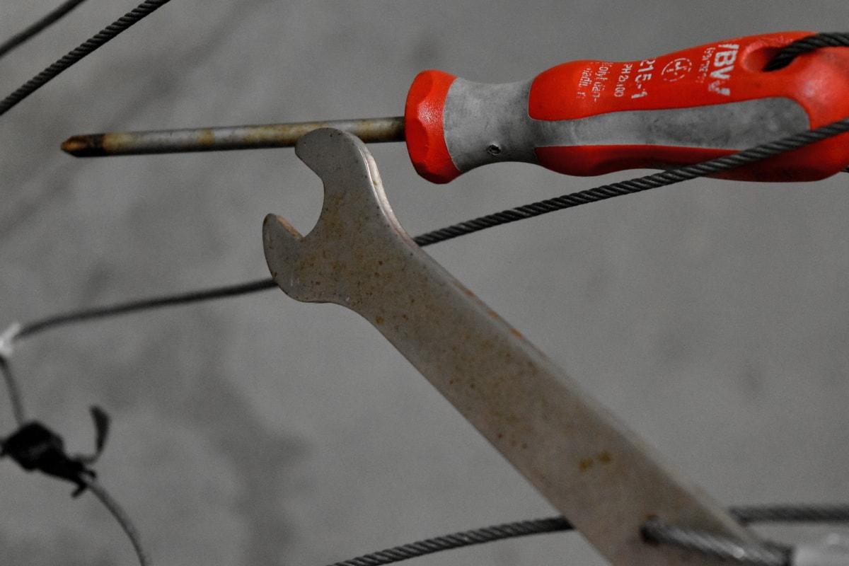 Francuski ključ, ručni alat, metal, čelik, odvijač, oprema, kliješta, industrija