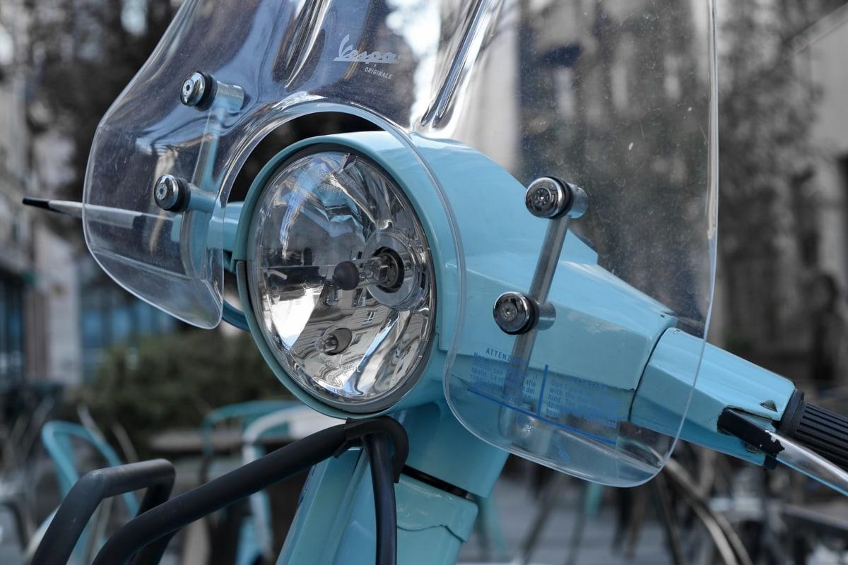 forlygte, Italien, Metallic, motorcykel, hjulet, stål, køretøj, teknologi