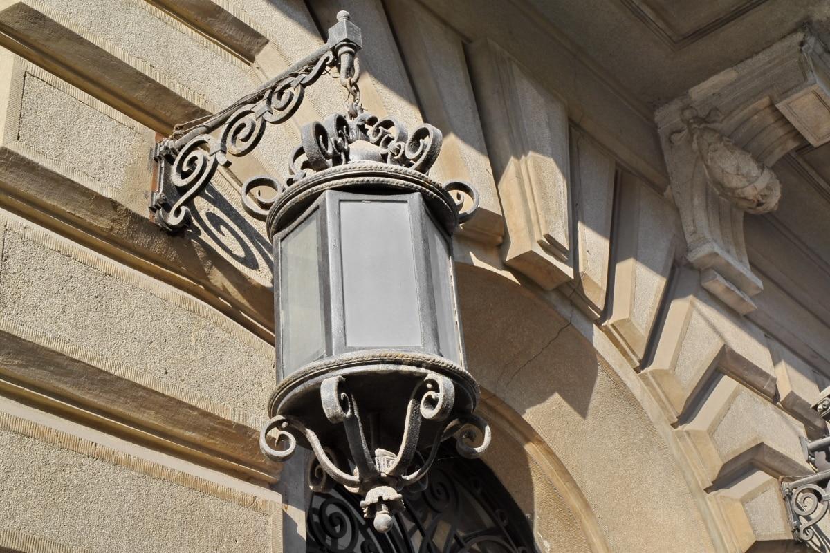cast iron, lamp, architecture, building, old, antique, ancient, design