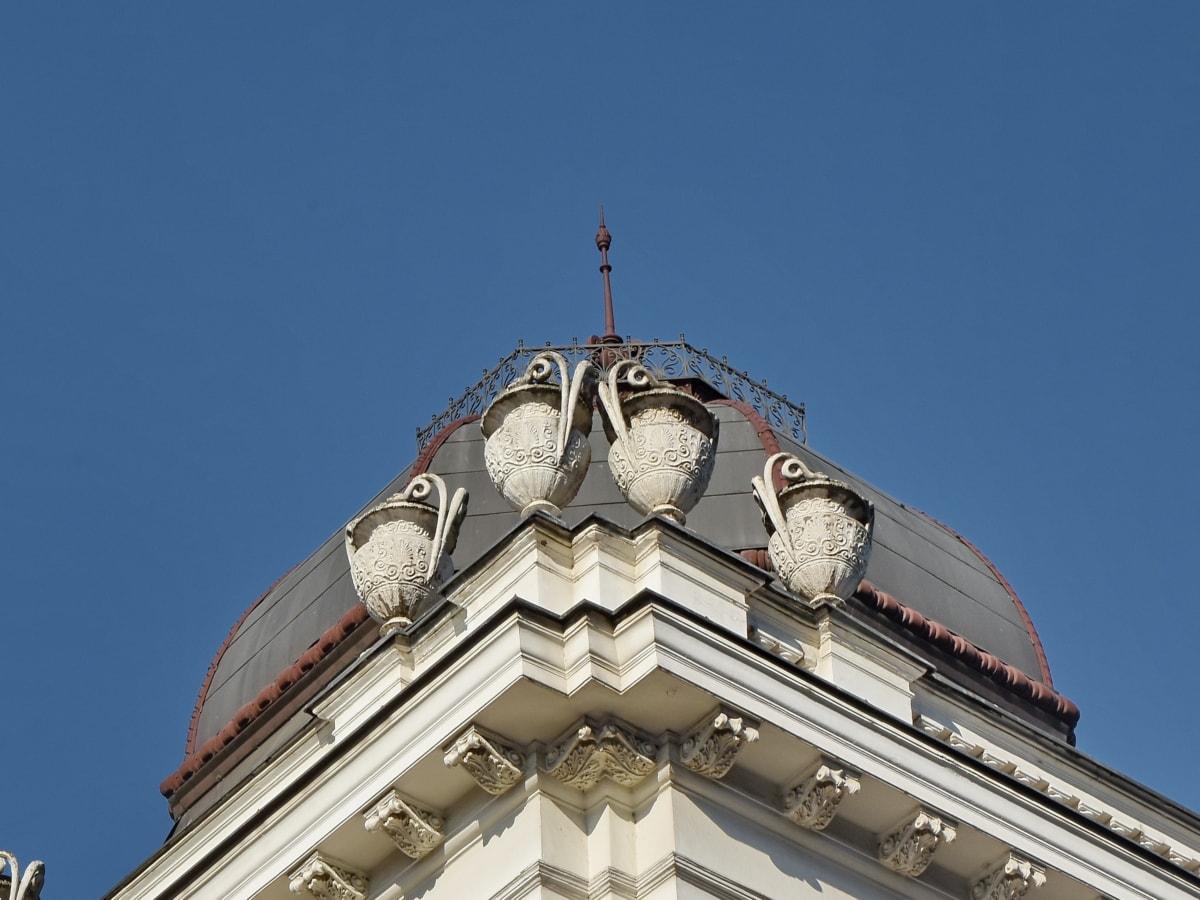 skulptur, vase, Tag, arkitektur, religion, bygning, der dækker, kupoli