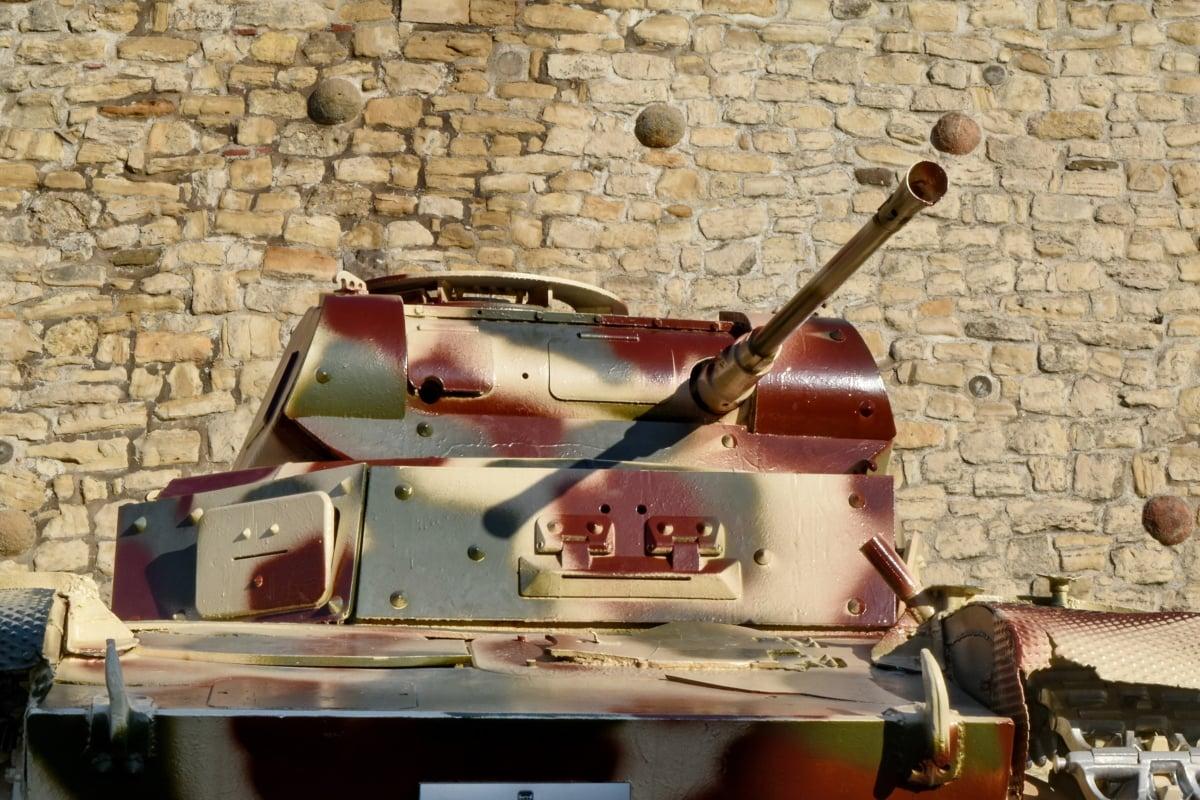 古い, 車両, 軍事, アンティーク, 武器, ヴィンテージ, 銃, 古代