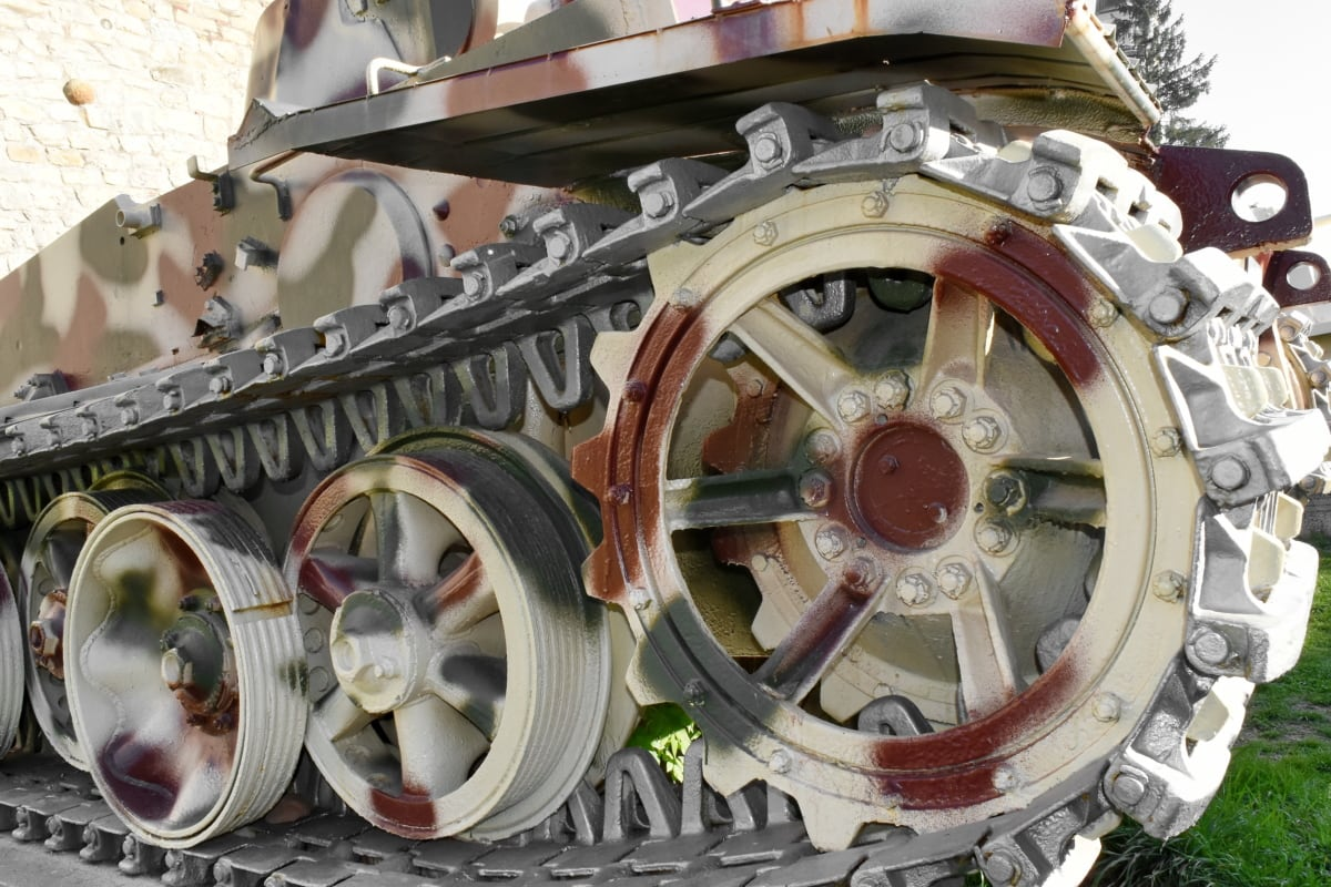 kamufláž, vojenské, motor, mechanizmus, stroj, Technológia, oceľ, staré