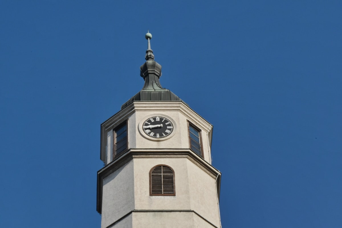 clock, decoration, tower, dome, architecture, building, outdoors, old