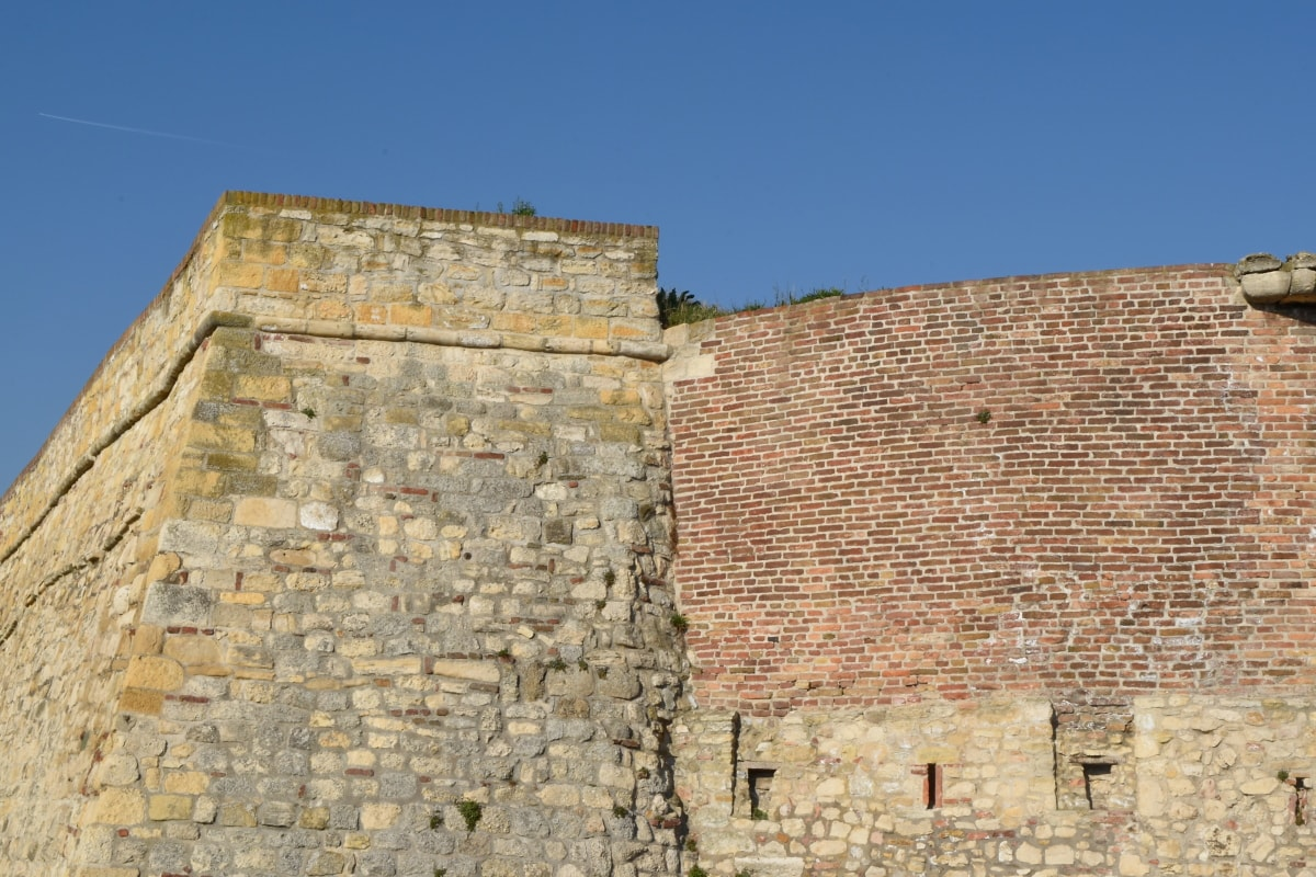 fortress, ancient, stone, brick, wall, rampart, architecture, old