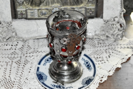 glass, handmade, object, religion, religious, silver, cup, table
