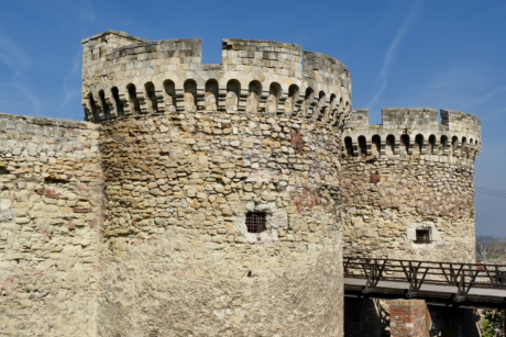 bridge, castle, fortification, fortress, medieval, Serbia, ancient, architectural style
