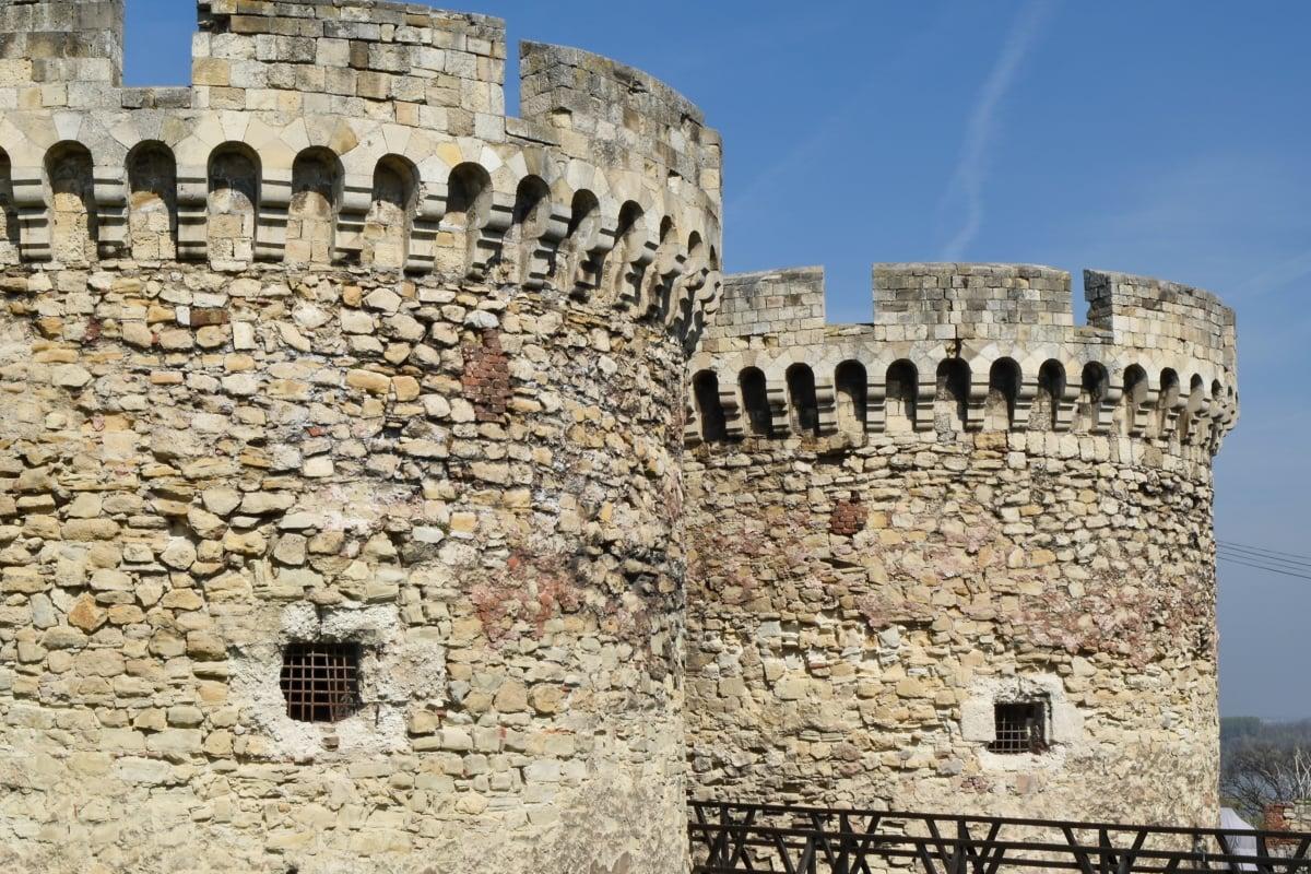 główne miasto, Zamek, Twierdza, średniowieczny, Szaniec, Serbia, Miasto, fortyfikacja