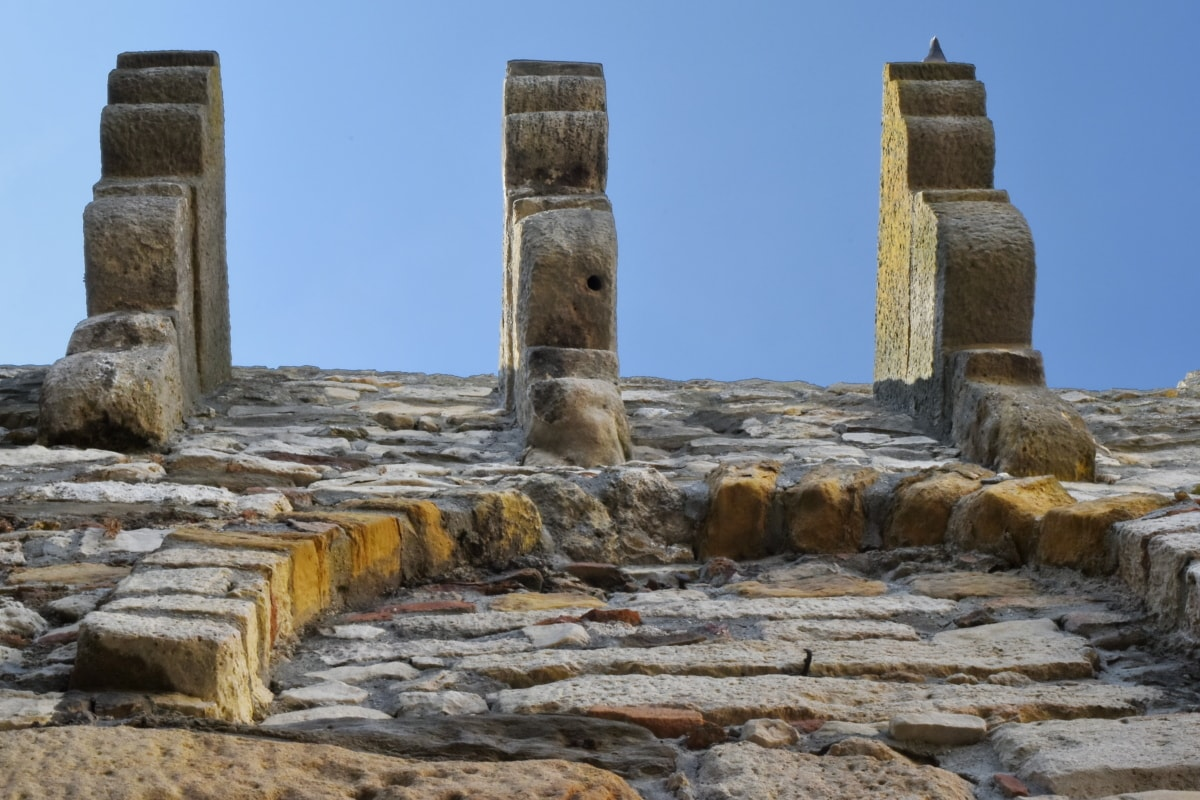 fortification, fortress, ancient, temple, stone, architecture, old, outdoors