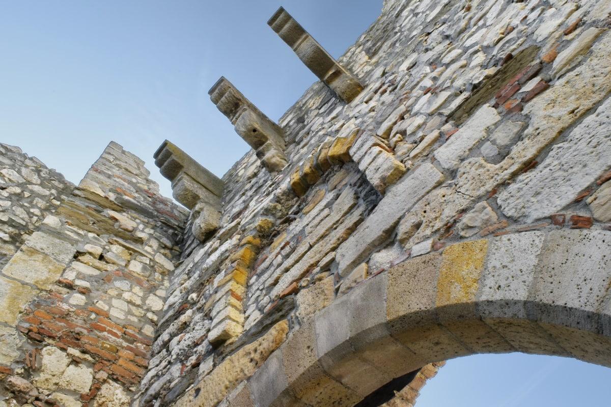 befæstning, fæstning, middelalderlige, bygning, historie, temppeli, sten, arkitektur