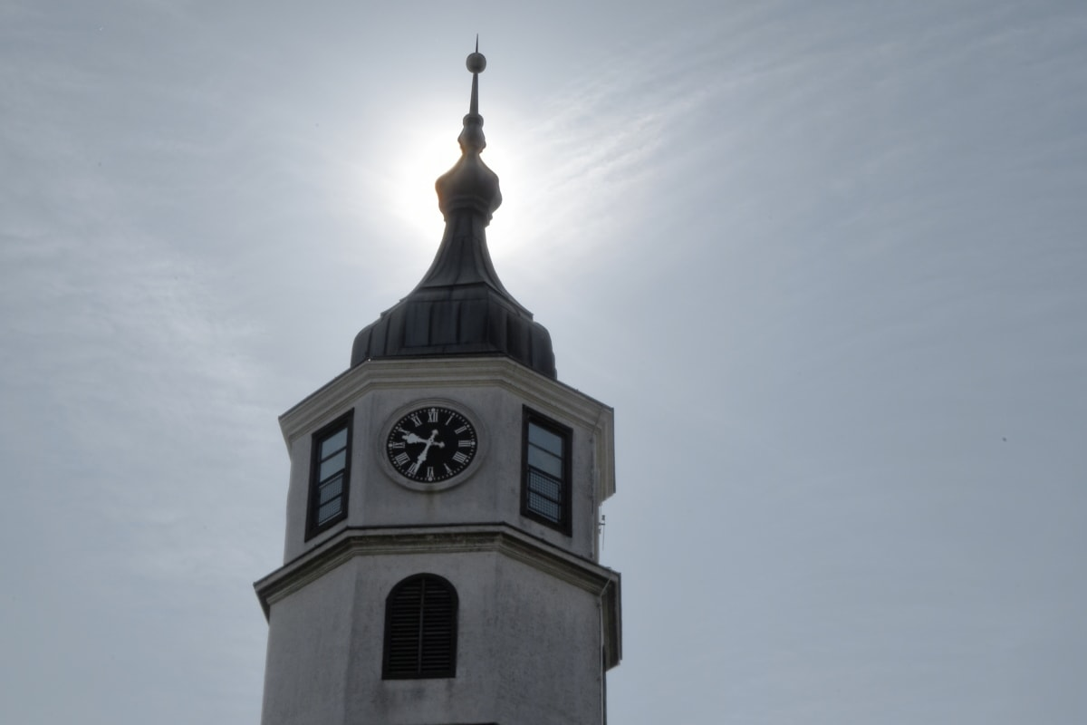Kuppel, Turm, Verkleidung, Erstellen von, Architektur, Uhr, im freien, alt