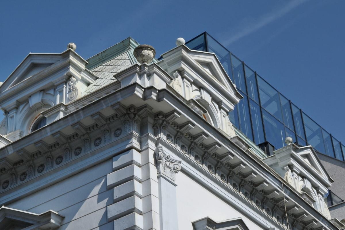 Ciudad, construcción, arquitectura, fachada, al aire libre, negocios, construcción, urbana
