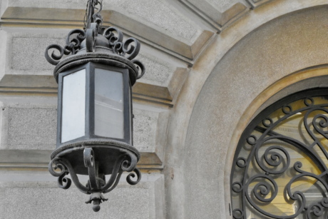 cast iron, decoration, lamp, metal, architecture, building, antique, old