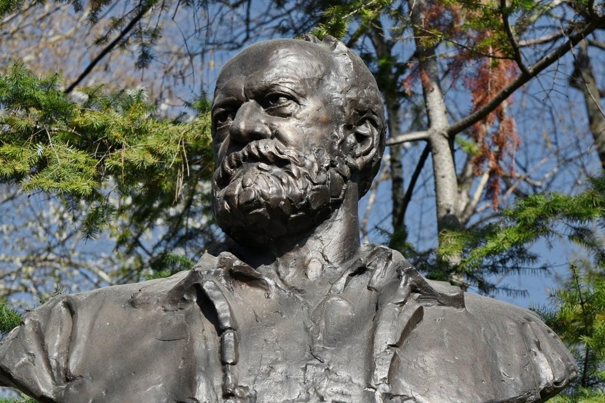 bronze, statue, sculpture, tree, nature, park, art, outdoors