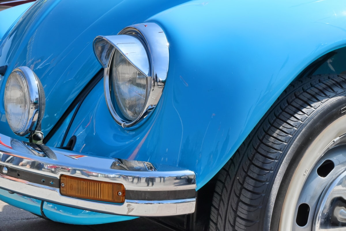 Metallic, strålkastare, transport, Automobile, bil, fordon, krom, automotive