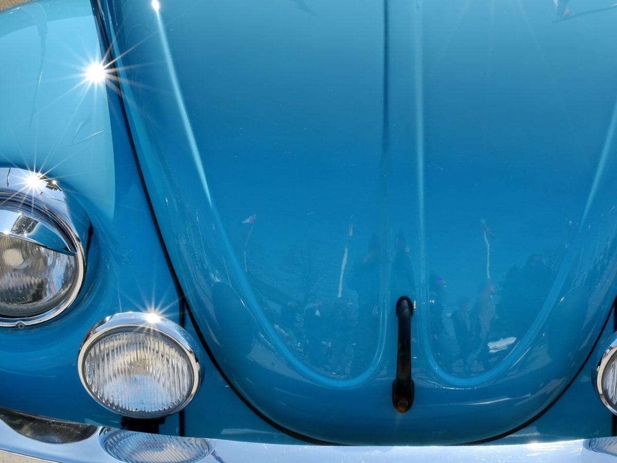 metálicos, reflexión, brillante, coche, cromo, diseño, vehículo, luz