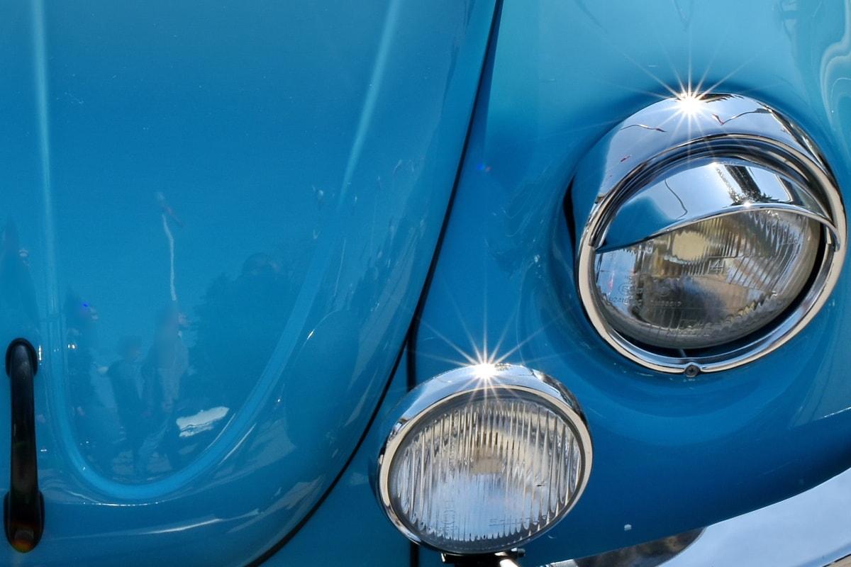 shining, sunrays, headlight, car, vehicle, chrome, light, classic