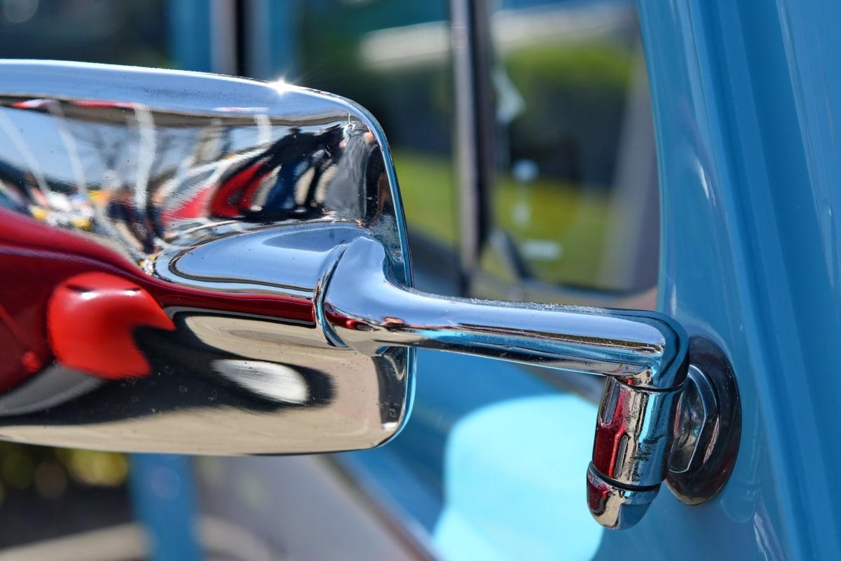 detalle, vehículo, coche, rueda, rápido, en coche, cromo, calle