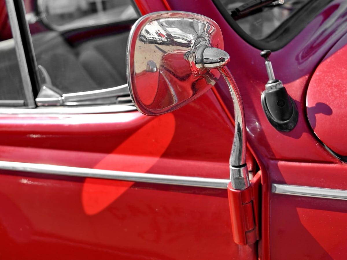 kromi, Metallic, spejl, automobil, transport, køretøj, bil, autojen