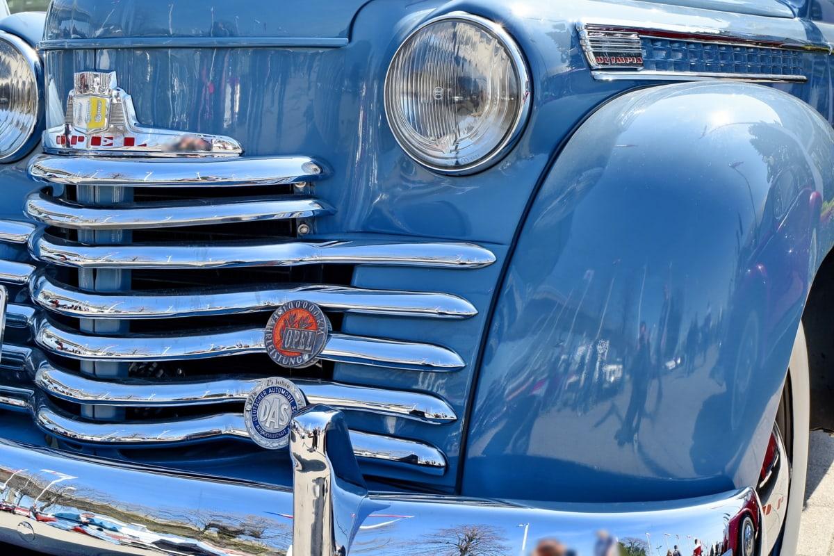 automobile, bumper, design, headlight, metallic, nostalgia, old, vehicle