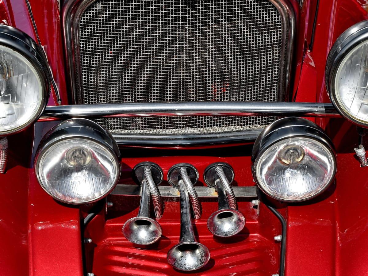 light bulb, luxury, metallic, car, vehicle, classic, chrome, headlight