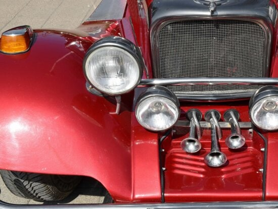 luxury, old fashioned, red, car, drive, chrome, vehicle, classic
