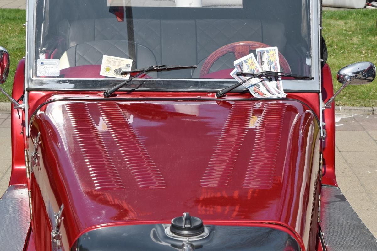 shining, windshield, transportation, car, vehicle, automobile, fire engine, classic