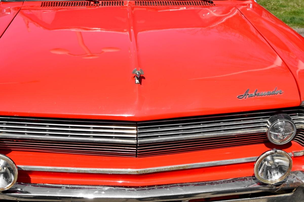 skinnende, bil, autojen, kørsel, transport, køretøj, kromi, klassikko