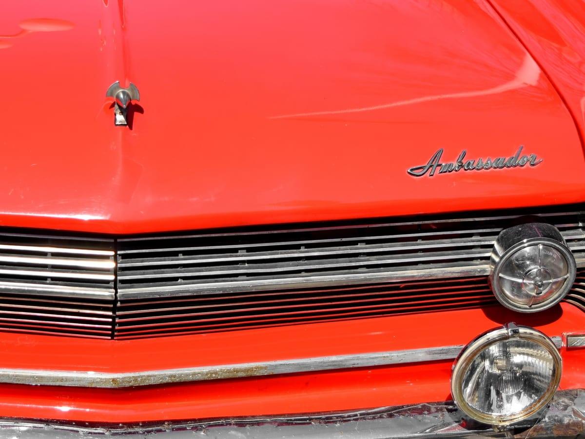 vanha tyyli, ajoneuvon, autojen, auton, kromi, ajovalojen, klassikko, asema