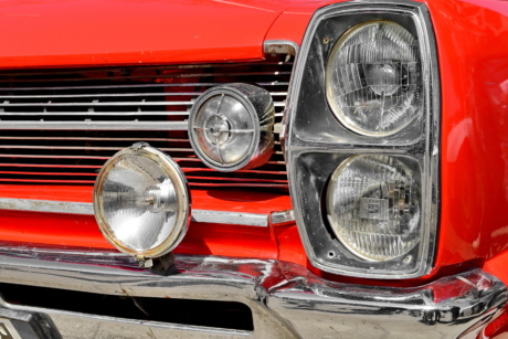 headlight, vehicle, classic, car, drive, front, bumper, automotive