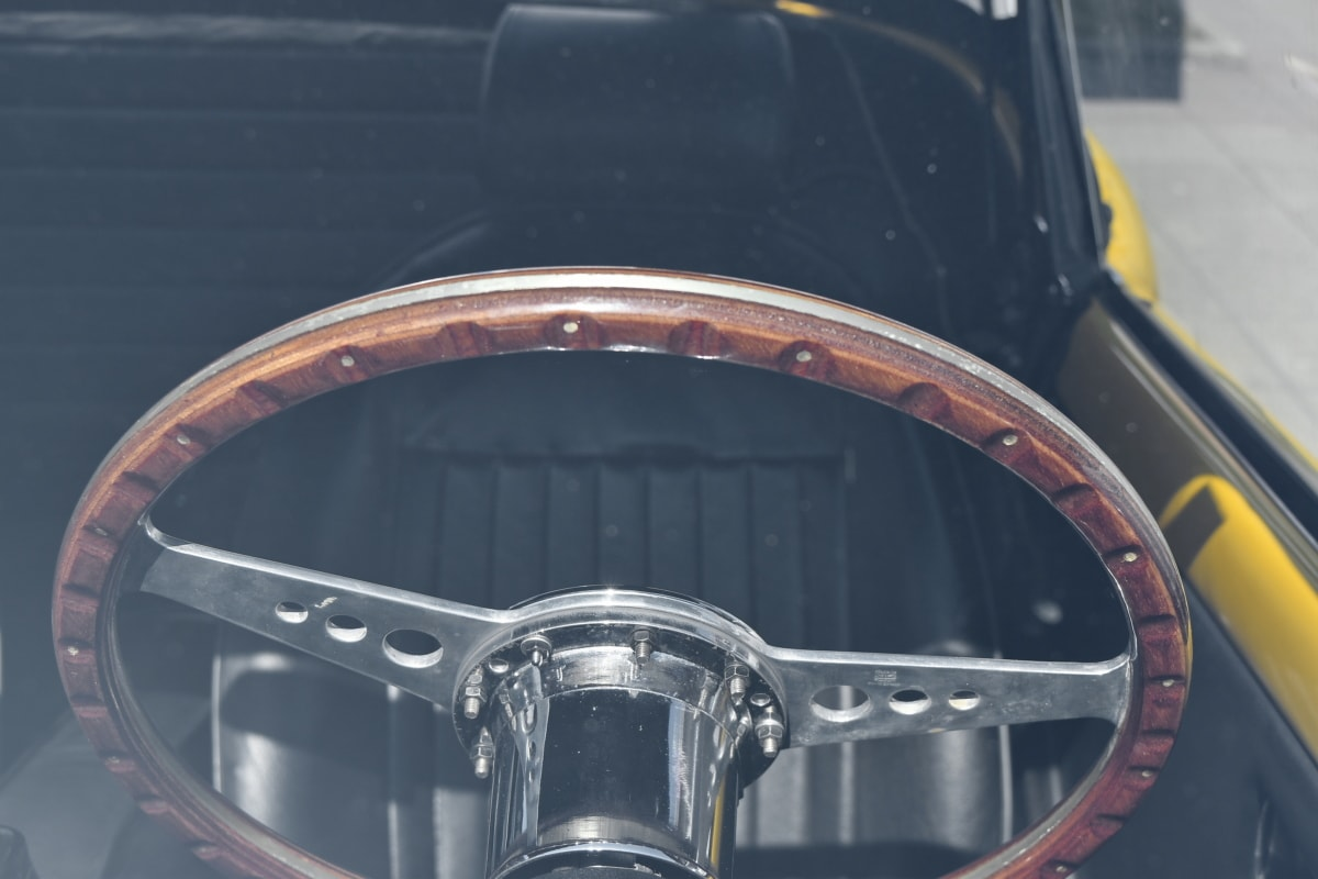 windshield, vehicle, car, drive, wheel, steering wheel, speed, classic