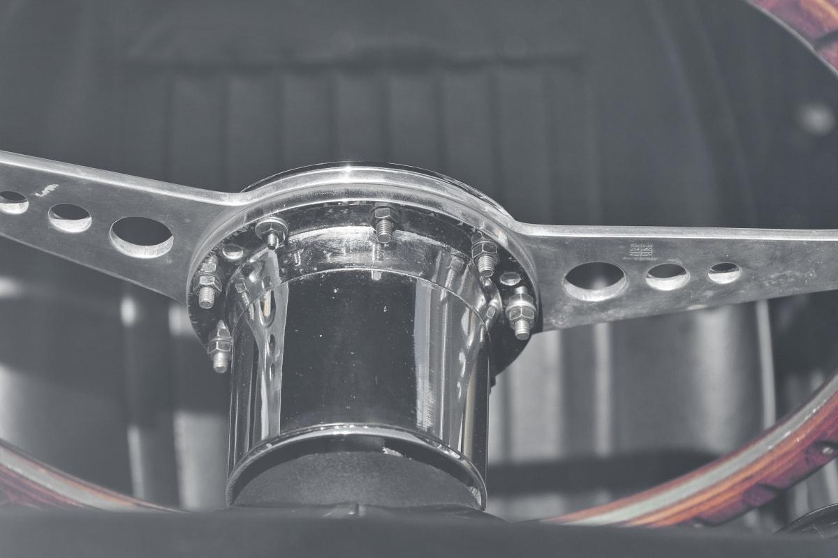chrome, metal, metallic, steering wheel, vehicle, car, steel, machine