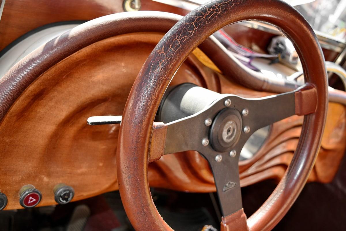 nostalgia, steering wheel, car, old, antique, vehicle, indoors, luxury