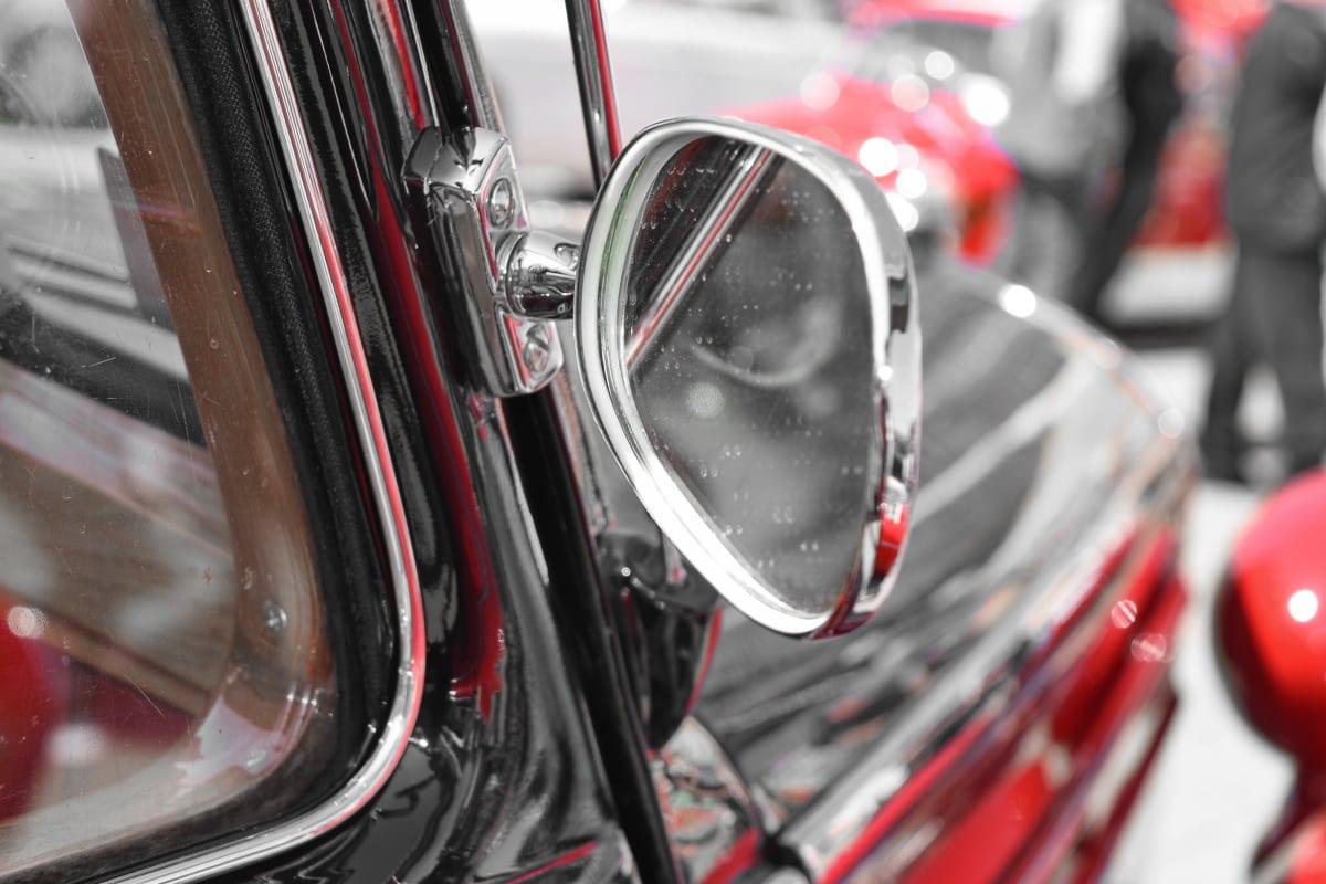 cars, dirty, mirror, reflection, drive, car, transportation, wheel
